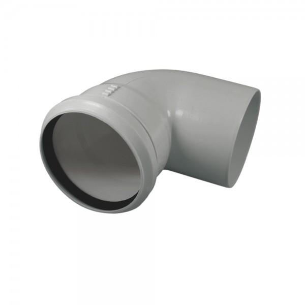 Abluftrohrbogen 90° grau, DN100 mm